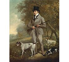 Philip Reinagle - John Hind. Hunter painting: hunting man, nature, male, forest, wild life, masculine, dogs, hunt, manly, hunters men, hunter Photographic Print