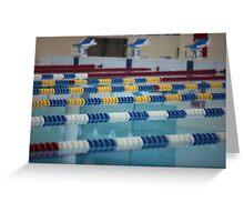 Swimming Lane Marker Greeting Card
