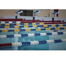 Swimming Lane Marker Photographic Print