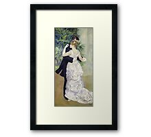 Pierre-Auguste Renoir - Dance In The Cityrenoir. Dancer painting: ballroom, dance, couple, evening dress, costume, ball dance, dancing woman, young , dancers, ball dance,  lovers  Framed Print