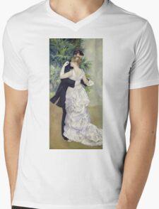 Pierre-Auguste Renoir - Dance In The Cityrenoir. Dancer painting: ballroom, dance, couple, evening dress, costume, ball dance, dancing woman, young , dancers, ball dance,  lovers  Mens V-Neck T-Shirt