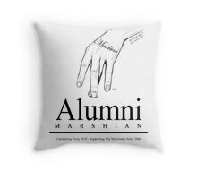 Alumni Tee - Marshian Wear Throw Pillow