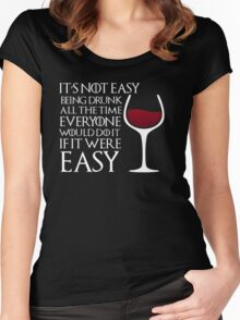 Drunk Women's Fitted Scoop T-Shirt