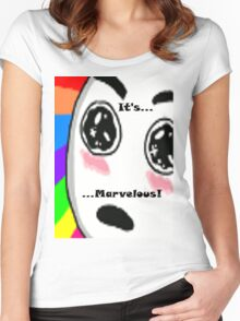 ...Marvelous... Amazed face Rainbow Women's Fitted Scoop T-Shirt