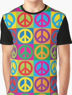 Pop Art Peace Symbols Graphic T-Shirt