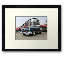 A Cool Classic Car And A Coaster Framed Print