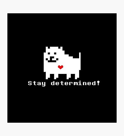 Undertale - Stay Determined! Photographic Print