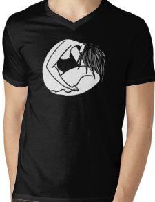 The girl Mens V-Neck T-Shirt