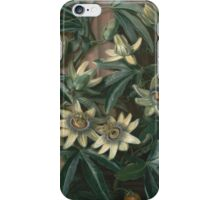 Philip Reinagle - Blue Passion Flower 1800. Still life with flowers: still life with flowers, flowers, blossom, nature, botanical,  leaves, wonderful flower, plants,  leaf, garden,  passion iPhone Case/Skin