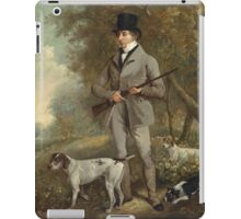 Philip Reinagle - John Hind. Hunter painting: hunting man, nature, male, forest, wild life, masculine, dogs, hunt, manly, hunters men, hunter iPad Case/Skin