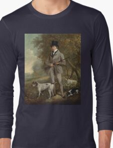 Philip Reinagle - John Hind. Hunter painting: hunting man, nature, male, forest, wild life, masculine, dogs, hunt, manly, hunters men, hunter Long Sleeve T-Shirt