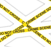 Crime Scene Do Not Cross The Line Sticker