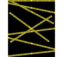 Crime Scene Do Not Cross The Line Photographic Print