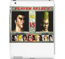 Tekken 1 Character Select  iPad Case/Skin