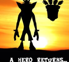 Crash Bandicoot - The Return Sticker