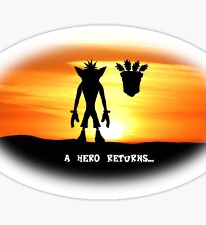 Crash Bandicoot - The Return Sticker
