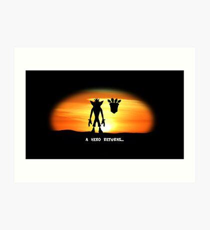 Crash Bandicoot - The Return Art Print