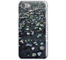 Black sand and colored stones beach iPhone Case/Skin
