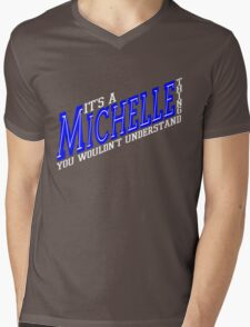 It's A Michelle Thing! - Blueberry Mens V-Neck T-Shirt