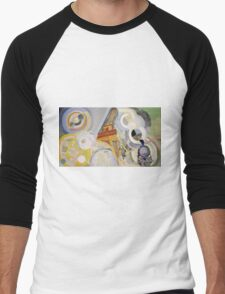 Robert Delaunay - Air, Fire And Water. Abstract painting: abstraction, geometric, expressionism, composition, lines, forms, Air,  Fire ,  Water, illusion, fantasy future Men's Baseball ¾ T-Shirt