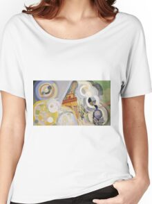Robert Delaunay - Air, Fire And Water. Abstract painting: abstraction, geometric, expressionism, composition, lines, forms, Air,  Fire ,  Water, illusion, fantasy future Women's Relaxed Fit T-Shirt
