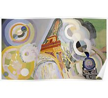 Robert Delaunay - Air, Fire And Water. Abstract painting: abstraction, geometric, expressionism, composition, lines, forms, Air,  Fire ,  Water, illusion, fantasy future Poster