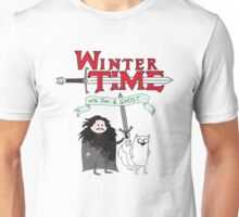 Winter Time with Jon Snow and Ghost Unisex T-Shirt