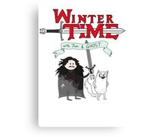 Winter Time with Jon Snow and Ghost Canvas Print
