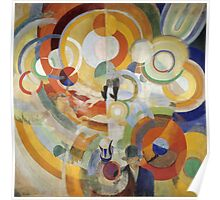 Robert Delaunay - Carousel With Pigs . Abstract painting: abstraction, geometric, expressionism, composition, lines, forms,  Pig , Carousel , music, kaleidoscope, fantasy future Poster