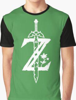 The Legend of Zelda Z-Logo (Transparent/White) Graphic T-Shirt