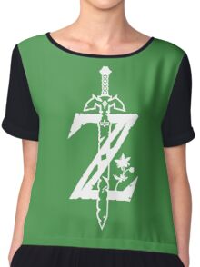 The Legend of Zelda Z-Logo (Transparent/White) Chiffon Top