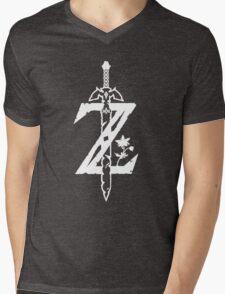 The Legend of Zelda Z-Logo (Transparent/White) Mens V-Neck T-Shirt