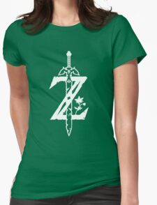 The Legend of Zelda Z-Logo (Transparent/White) Womens Fitted T-Shirt