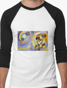 Robert Delaunay - Circular Forms . Abstract painting: abstraction, geometric, expressionism, composition, lines, forms, creative fusion, music, kaleidoscope, illusion, fantasy future Men's Baseball ¾ T-Shirt