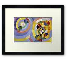 Robert Delaunay - Circular Forms . Abstract painting: abstraction, geometric, expressionism, composition, lines, forms, creative fusion, music, kaleidoscope, illusion, fantasy future Framed Print