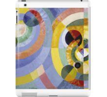 Robert Delaunay - Circular Forms . Abstract painting: abstraction, geometric, expressionism, composition, lines, forms, creative fusion, music, kaleidoscope, illusion, fantasy future iPad Case/Skin