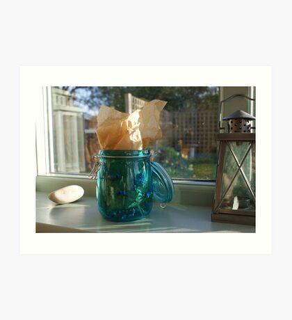 Blue jar Art Print