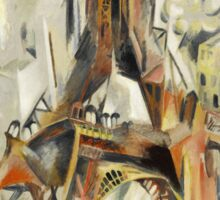 Robert Delaunay - Eiffel Tower. Abstract painting: abstraction, geometric, Eiffel ,  Tower, lines, forms, Circular , music, kaleidoscope, illusion, fantasy future Sticker