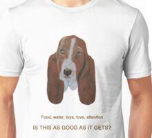 Sad-eyed Basset Hound Unisex T-Shirt