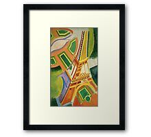 Robert Delaunay - Eiffel Tower.Tour Eiffel. Abstract painting: Eiffel, Tower , Tour , composition, lines, forms, creative fusion, music, kaleidoscope, illusion, fantasy future Framed Print