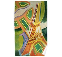Robert Delaunay - Eiffel Tower.Tour Eiffel. Abstract painting: Eiffel, Tower , Tour , composition, lines, forms, creative fusion, music, kaleidoscope, illusion, fantasy future Poster