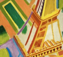 Robert Delaunay - Eiffel Tower.Tour Eiffel. Abstract painting: Eiffel, Tower , Tour , composition, lines, forms, creative fusion, music, kaleidoscope, illusion, fantasy future Sticker
