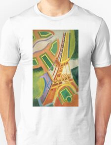 Robert Delaunay - Eiffel Tower.Tour Eiffel. Abstract painting: Eiffel, Tower , Tour , composition, lines, forms, creative fusion, music, kaleidoscope, illusion, fantasy future Unisex T-Shirt