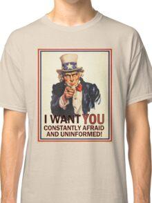 Afraid & Uniformed Classic T-Shirt