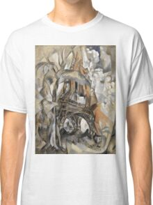 Robert Delaunay - Eiffel Tower With Trees . Abstract painting: Eiffel, Tower , Tour ,  Trees , lines, forms, creative fusion, music, kaleidoscope, illusion, fantasy future Classic T-Shirt