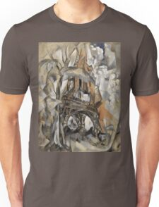 Robert Delaunay - Eiffel Tower With Trees . Abstract painting: Eiffel, Tower , Tour ,  Trees , lines, forms, creative fusion, music, kaleidoscope, illusion, fantasy future Unisex T-Shirt