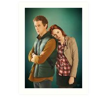 Rory and Amy - 'The Doctor's Wife' (Doctor Who) Art Print