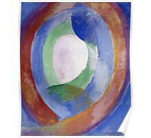 Robert Delaunay -  Forms Circular. Abstract painting: abstraction, geometric, expressionism, composition, lines, forms, creative fusion, music, kaleidoscope, illusion, fantasy future Poster