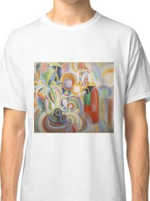 Robert Delaunay - Portuguese Woman. Abstract painting: abstraction, geometric,  Woman, composition, lines, forms, Portuguese , music, kaleidoscope, illusion, fantasy future Classic T-Shirt