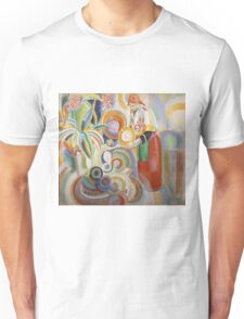Robert Delaunay - Portuguese Woman. Abstract painting: abstraction, geometric,  Woman, composition, lines, forms, Portuguese , music, kaleidoscope, illusion, fantasy future Unisex T-Shirt